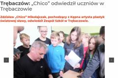 """2019_Trębaczów_ """"Chico"""" odwiedził uczniów w Trębaczowie - Tygodnik Kępińsk_ - www.tygodnikkepinski.pl"""